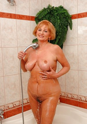 Granny in Shower Porn