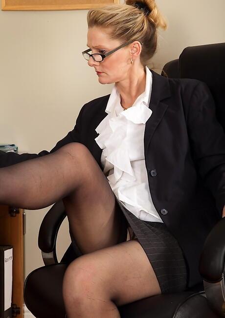 Office Granny Porn