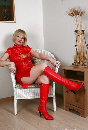 Granny in Boots Porn